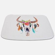 Buffalo Skull Bathmat