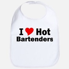 I Love Hot Bartenders Bib