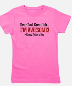 Unique Fathers day Girl's Tee