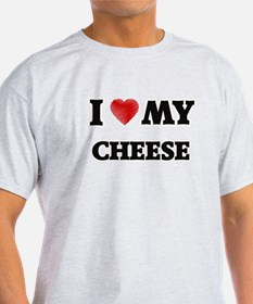 I Love My Cheese food design T-Shirt