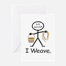 Basket Weaving Stick Fig Greeting Cards (Pk of 20)