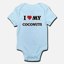 I Love My Coconuts food design Body Suit