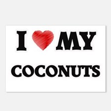 I Love My Coconuts food d Postcards (Package of 8)