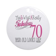 70th Birthday Gifts Ornament (Round)