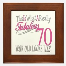 70th Birthday Gifts Framed Tile