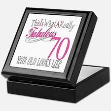 70th Birthday Gifts Keepsake Box