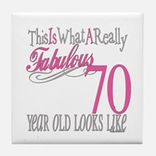 70th Birthday Gifts Tile Coaster