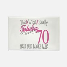 70th Birthday Gifts Rectangle Magnet
