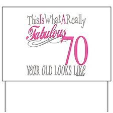 70th Birthday Gifts Yard Sign