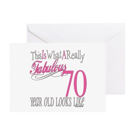 70th Birthday Gifts Greeting Card
