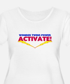 Wonder twins2 Plus Size T-Shirt