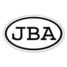 JBA Oval Oval Decal