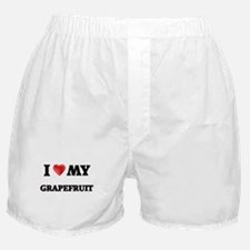 I Love My Grapefruit food design Boxer Shorts