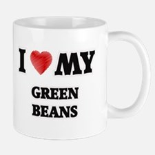 I Love My Green Beans food design Mugs