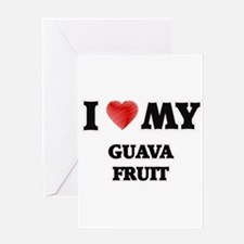 I Love My Guava Fruit food design Greeting Cards