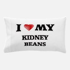 I Love My Kidney Beans food design Pillow Case