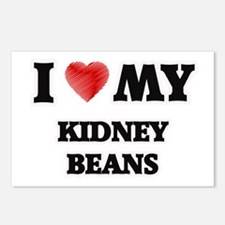 I Love My Kidney Beans fo Postcards (Package of 8)