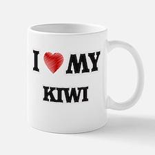 I Love My Kiwi food design Mugs