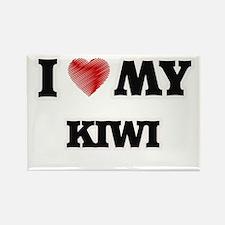 I Love My Kiwi food design Magnets