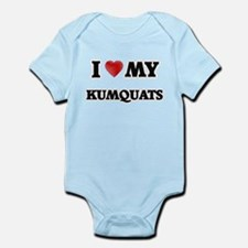 I Love My Kumquats food design Body Suit