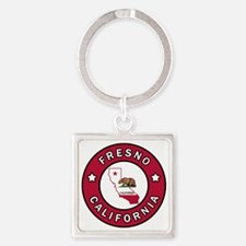 Cute Fresno city Square Keychain