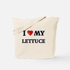 I Love My Lettuce food design Tote Bag