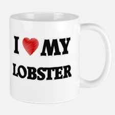 I Love My Lobster food design Mugs