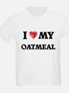 I Love My Oatmeal food design T-Shirt