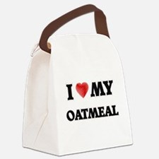 I Love My Oatmeal food design Canvas Lunch Bag