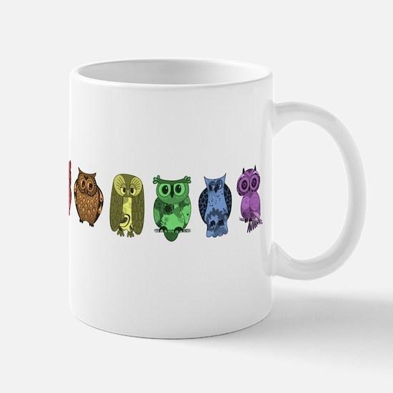 Rainbow Owls Mug