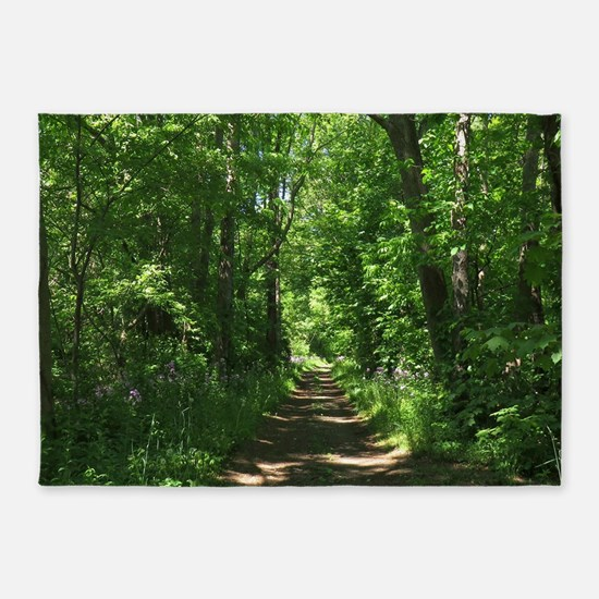 Path into the woods 5'x7'Area Rug