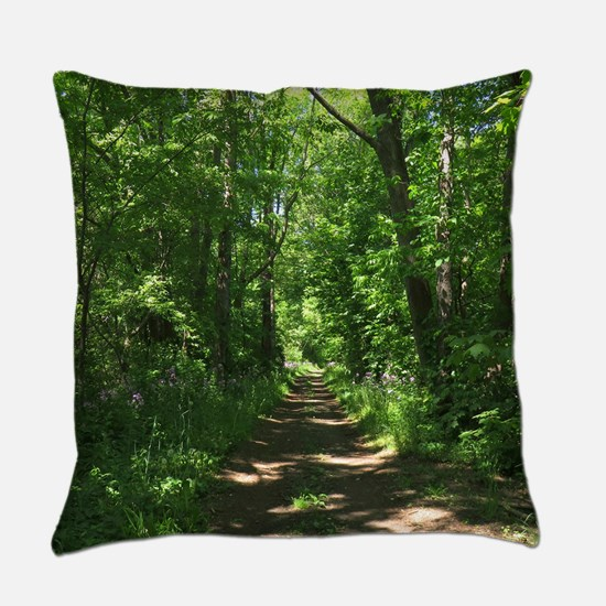 Path into the woods Everyday Pillow
