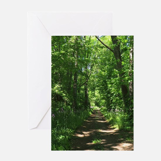 Path into the woods Greeting Card
