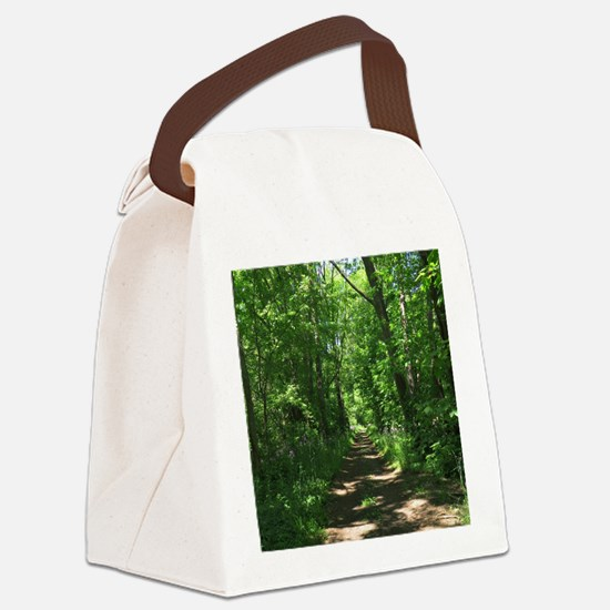 Path into the woods Canvas Lunch Bag