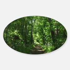 Path into the woods Sticker (Oval)