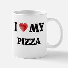 I Love My Pizza food design Mugs
