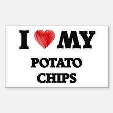 I Love My Potato Chips food design Decal