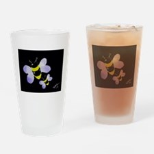 Bumble bee art Drinking Glass