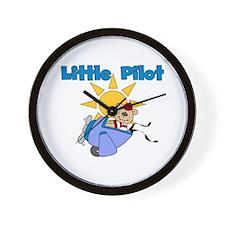 Little Pilot Wall Clock