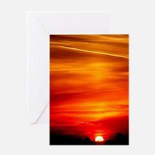 Sunset Red and orange Greeting Cards