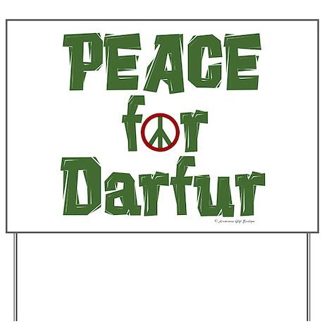 Peace For Darfur 1.6 Yard Sign