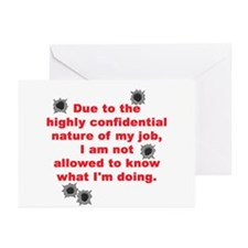 Confidential Job Greeting Cards (Pk of 10)