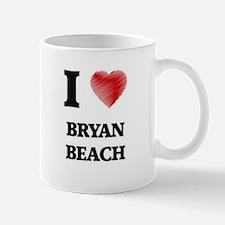 I love Bryan Beach Texas Mugs