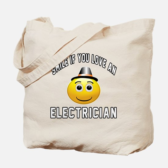 Smile If You Love Electrician Tote Bag