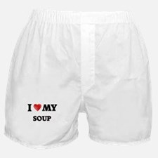 I Love My Soup food design Boxer Shorts