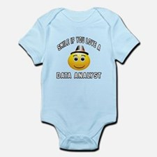 Smile If You Love Data analyst Infant Bodysuit