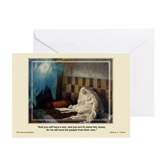 The Annunciation - Tissot - Greeting Card