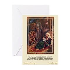 Shepherds Worship-CoppingChristma Cards (Pk of 10)