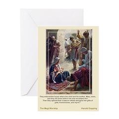 The Magi Worship-Copping-Christmas Card