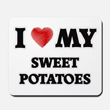 I Love My Sweet Potatoes food design Mousepad